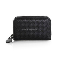 Alibaba China Latest hand made woven leather coin purse