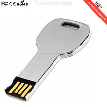 stocked bulk item free cutomized logo key shape usb flash drive