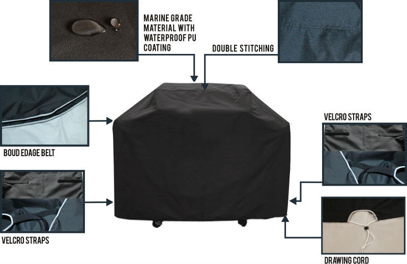 100% UV-protected Waterproof BBQ cover with China supply