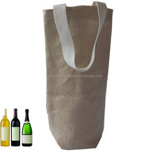 Factory canvas wine tote bag with custom printing