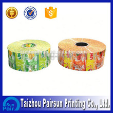 Custom thermal self adhesive label