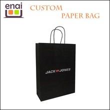 Colored handmade antique cement black kraft paper packaging bag