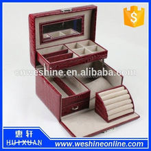 Luxury Jewelry box manufacturers china / leather jewelry packaging box for necklace bracelet earring Jewelry /Jewellery box