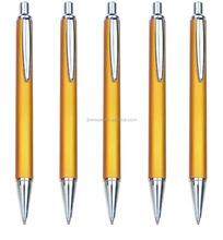 advertisement promo gift metal ballpoint pen golden