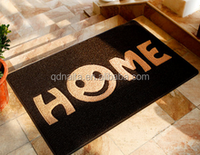 customized pvc coil door mat, design words and picture