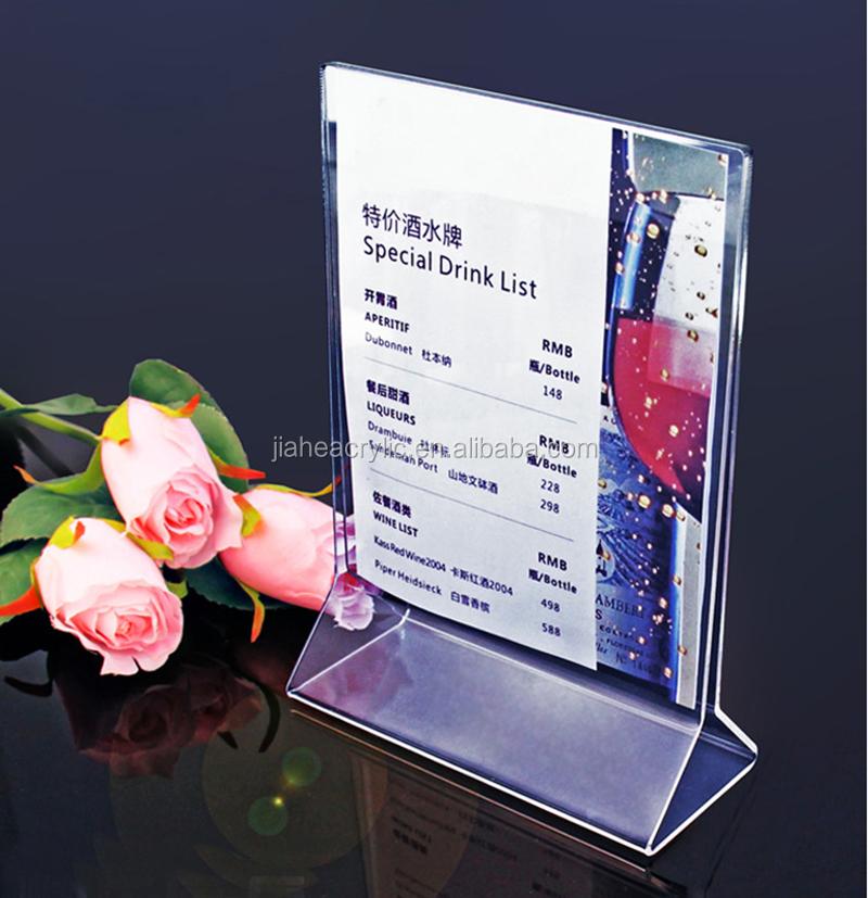 Hot Sale Advertising Acrylic Menu StandAcrylic Menu Holder - Restaurant table advertising