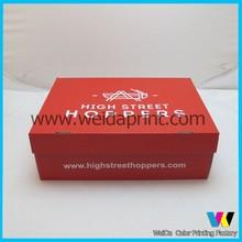 foldable custom cardboard shoe box wholesales