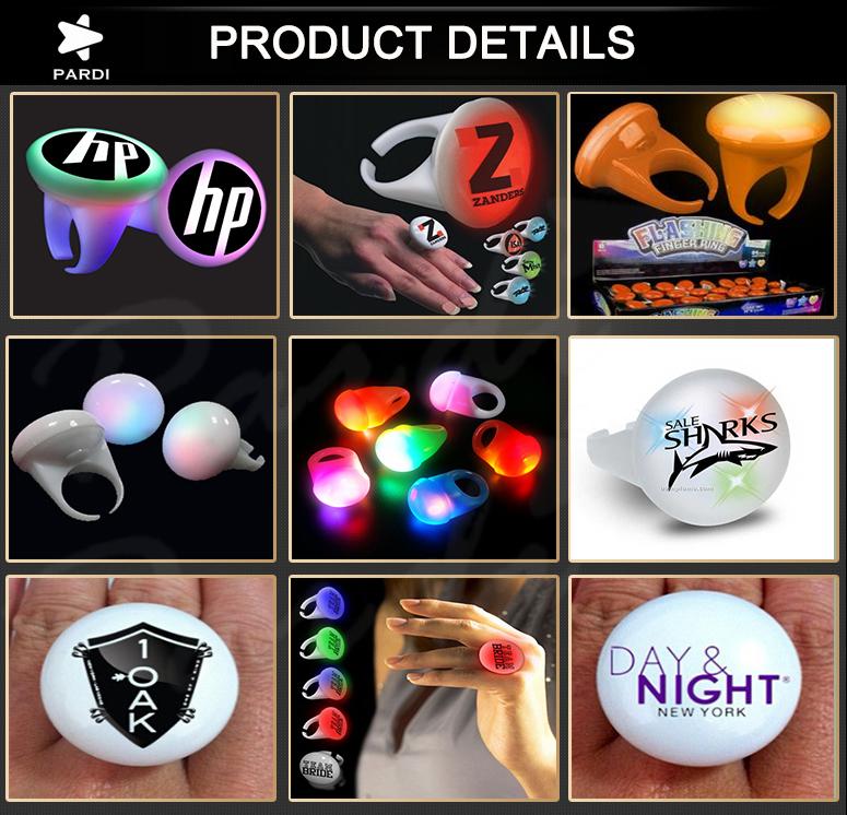 Cheap Plastic LED Magic Finger Lights 2016 China Manufacturer LED Flashing Party Lighting Ring ...