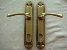 Aluminum Handle Iron Plate/Poland door Handle/Cheap Door handle