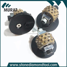 High Efficiency Rotary Bush Hammer Rollers 45 Spikes For Stone Use