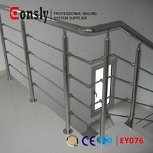 Barandas y pasamanos componentes electrónicos, de aceroinoxidable prefabricado de metal barandilla de la escalera