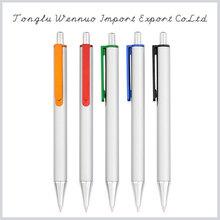 Economical custom new design promotional white ball point pen