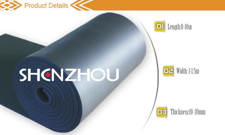flame proof insulation rubber foam sheet /hoods ventilation sheet/board