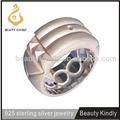 Europea de ebay y caliente de diseño sólido/anillo de plata de oro de diseño/platino plateado anillo para hombre anillo de atlantis para los hombres
