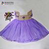 Latest Frocks Designs Fashion Baby Girls Purple Lace Tutu Fancy Smocked Dresses For Kids