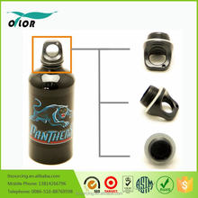 Wholesale good price best quality aluminum black water sports bottle with a panther logo