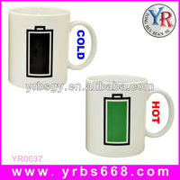 20 years factory experience 11oz battery thermometer color changing mugs