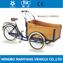 """UB9032 26"""" Steel 7 Speed Tricycle / Trike / Adult Cargo Bike with CE certification"""