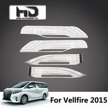 LED door sill plate scuff plate for toyota vellfire alphard 2015