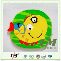 Eco-friendly 10*10*0.35cm Soft PVC Colorful Practical Beautiful Cup Coaster