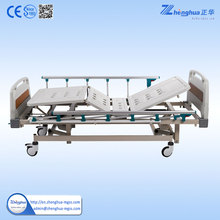 Cheapest Portable Aluminum foldable side rail hospital patient bed for hospital furniture