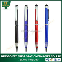 promotional metal twist stylus thin ballpoint pen