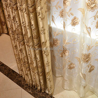 China manufacure colorful voile curtains