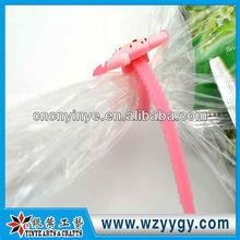 Fashion soft pvc colored plastic zip ties, new design PVC adjustable zip tie