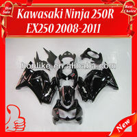 Ninja 250R Fairings Kit for KAWASAKI Ninja 250R EX 250 2008 2009 2010 2011 EX250 ZX250R 08 09 10 11 Black