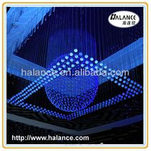 optic fiber chandelier pendant sphere crystal light