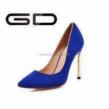 pretty western style shining colorful comfort PU high heel women shoes