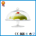 de vidrio transparente torta soporte con cúpula de cristal