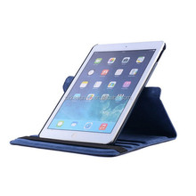 Genuine leather for ipad cases with elastic closure,high quality Pu leather case cover for ipad ipad air,for ipad case