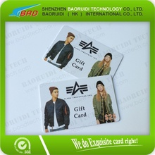 hot selling fashion gift card printing factory price