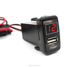 2.1A USB Port Dashboard Voltmeter Phone Charger for toyota