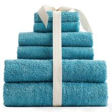 100% cotton solid color jacquard border terry towel set