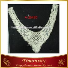 Fashion Style Natural Cotton-thread Neck trimming