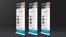 Board Waterdrop Base Roll Up Banner Stand Sliver/Black Rulla