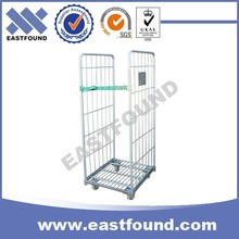 4 Wheels Moving Wire Japanese Cage Cart,Transport Roll Container