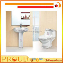 China Siphonic Ceramic Toilet Bathroom Set One Piece Toilet