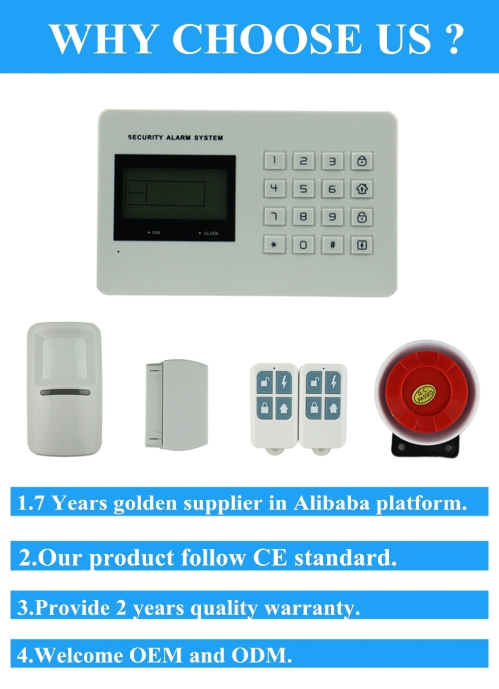 EB-832 GSM&PSTN Voice Wireless Home Alarm System with English voice prompt
