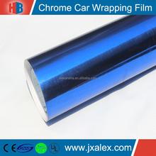 120mic/140gsm Chrome Blue Car Wrap Vinyl For Cheap Sale, DD-902 Chrome Blue Cast Car Wrap Vinyl Roll For Decoration