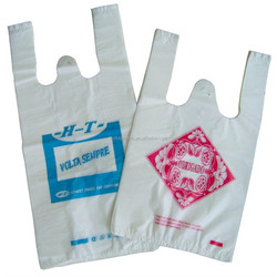 clear pe material shopping plastic t shirt bags