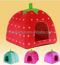 Cat/Dog Pet Soft House folding Pet House/bed Luxury strawberry bed