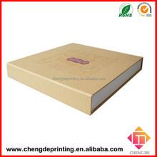 high-end rigid cardboard hand fan gift box packaging