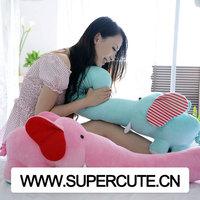 Wholesale creative design big soft long nose elephant custom plush toy