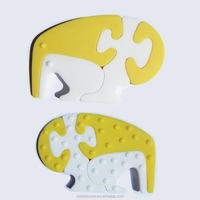 2014 New style natural rubber toy/Food grade silicone baby teether toys