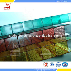 Polycarbonate Plastic Cover Roofing Sun Sheets frosted polycarbonate Hollow Sheet