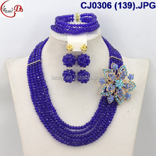 CJ0306 (139) hot sells fashion elegant dark blue beads jewelry sets for wedding/evening party