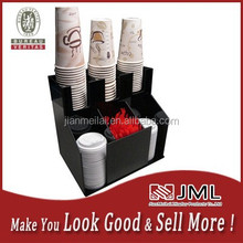 Cup an lid dispensers Holder coffee Condiment Caddy Cup Rack Sugar Organizer